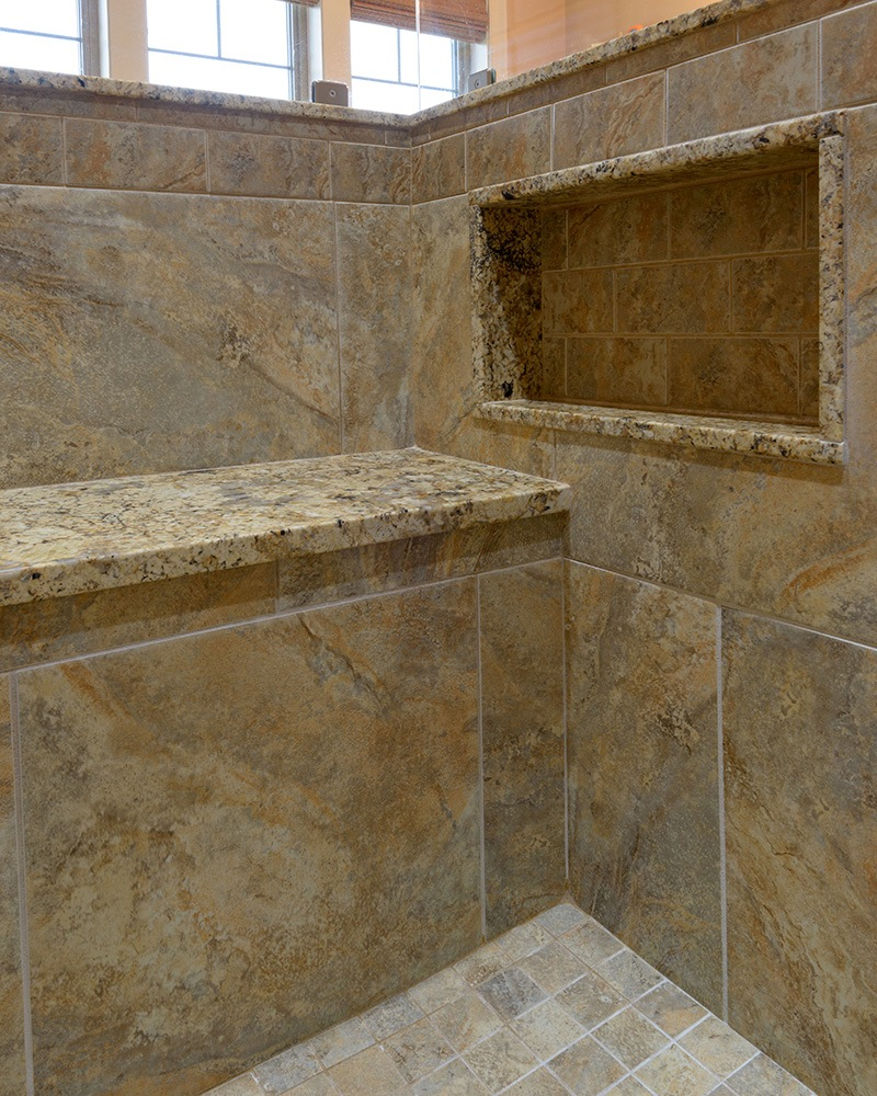 Stone Shower Seating