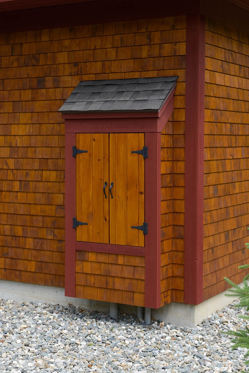 Covered Exterior Electrical Box