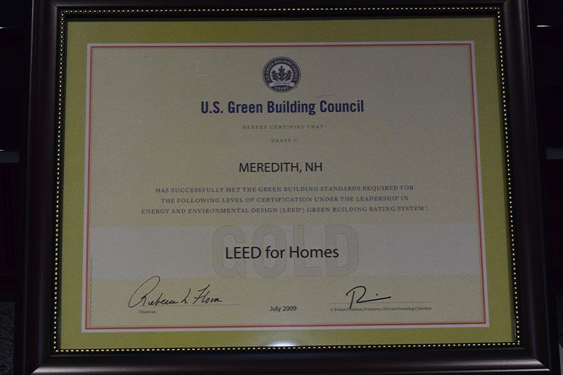 LEED for Homes 2009 Award